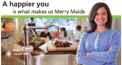 Merry Maids offers house cleaning services