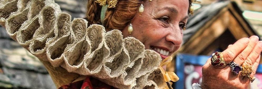 photo of woman in Renaissance costume at the 2017 Michigan Renaissance Festival