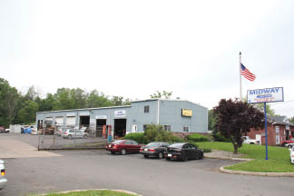 Midway Transmissions Auto Repair Shop fixes cars in their garage, location in Bridgewater, New Jersey