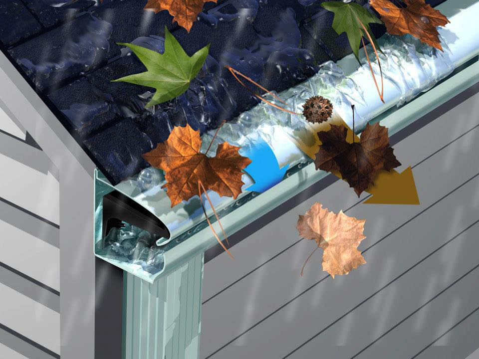 Midwest LeafGuard Gutter Example