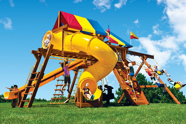 Photo of Rainbow Play Systems in Waukesha County, WI Castle Swing Set