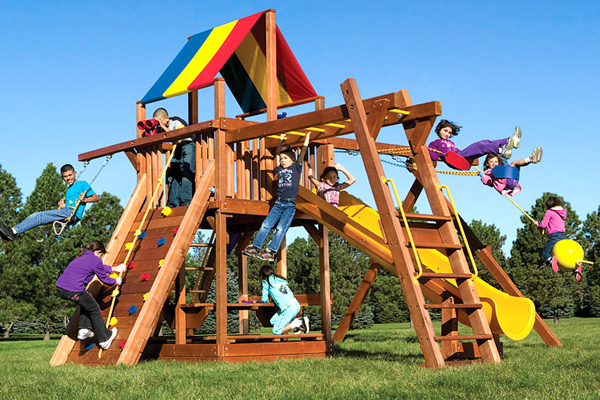 Photo of Rainbow Play Systems in Milwaukee County, WI Club Swing Set
