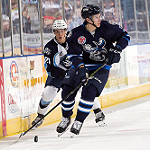 Picture of intense Milwaukee Admirals game at the Bradley Center in Milwaukee, WI