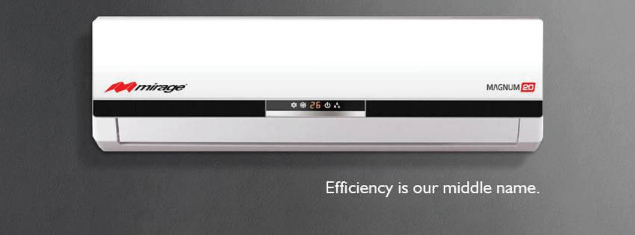 Mirage ductless mini split heat pump installed by Easy Cooling & Heating - Efficiency is our middle name