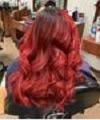 Beautiful long red hair color