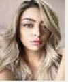 Long blonde wavy hair style