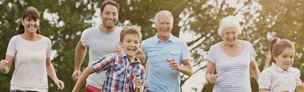 Multi-generational family outdoors. Retirement planning creates a better future.