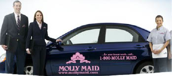 Molly Maid professional cleaners come to your home for house cleaning