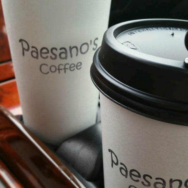 Enjoy delicious coffee from Paesano's Coffee drive-thru espresso stand at 19906 Hwy 2 in Monroe, WA - coffee coupons near me - espresso coupons near me