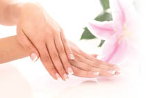 Monroe Nail Spa offers French manicures