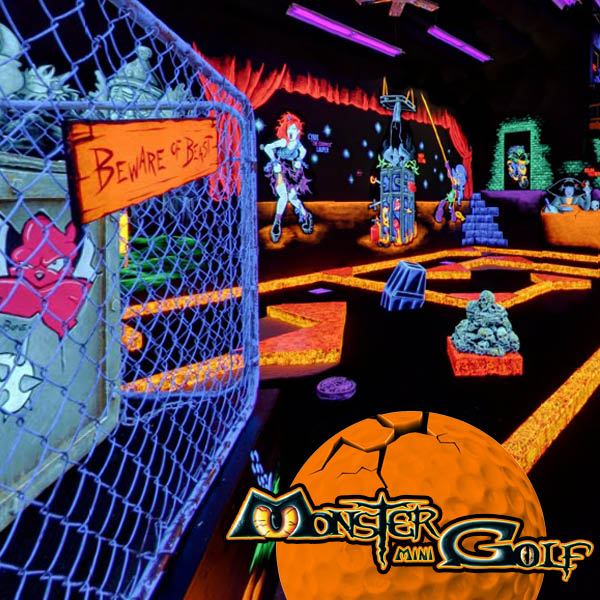 Glow in the dark miniature golf course monster mini golf Jessup, MD