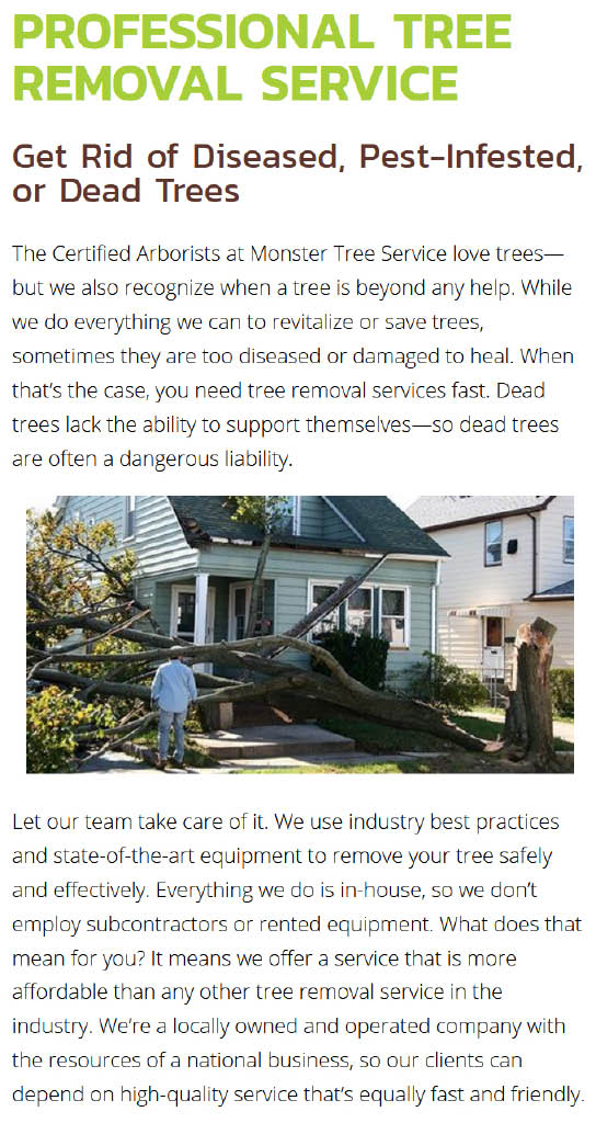 Monster Tree Service Professional Tree Removal Service