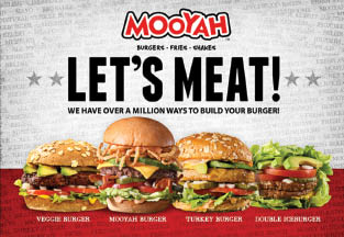 Mooyah burgers can be made as veggie brgers, turkey or beef