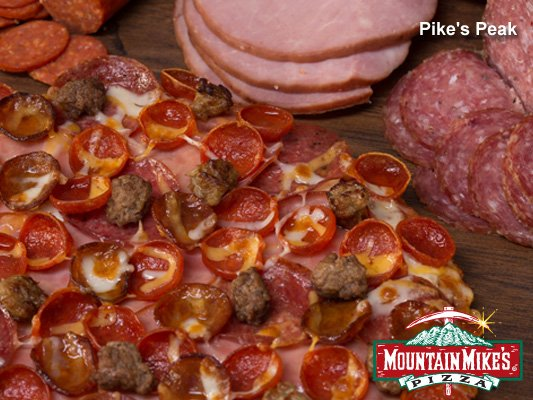 Mountain Mike's Pike's Peak pizza with ham, pepperoni and more