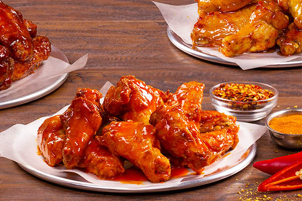 buffalo wings and other flavors from Mountain Mike's Pizza in Santa Clara