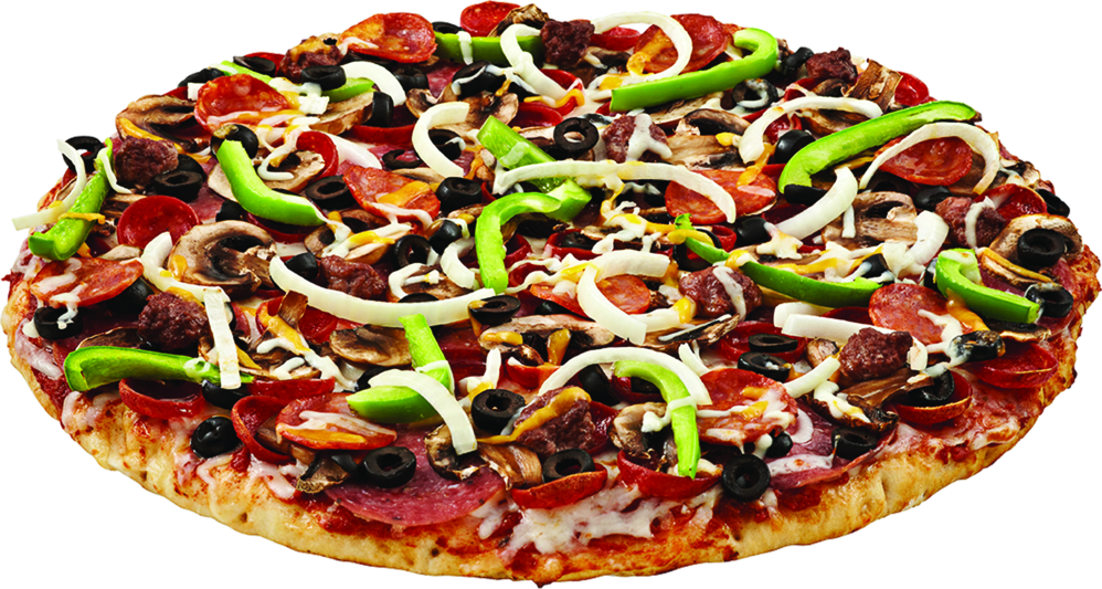 Enjoy a mountain of toppings and flavors with The Everest Pizza