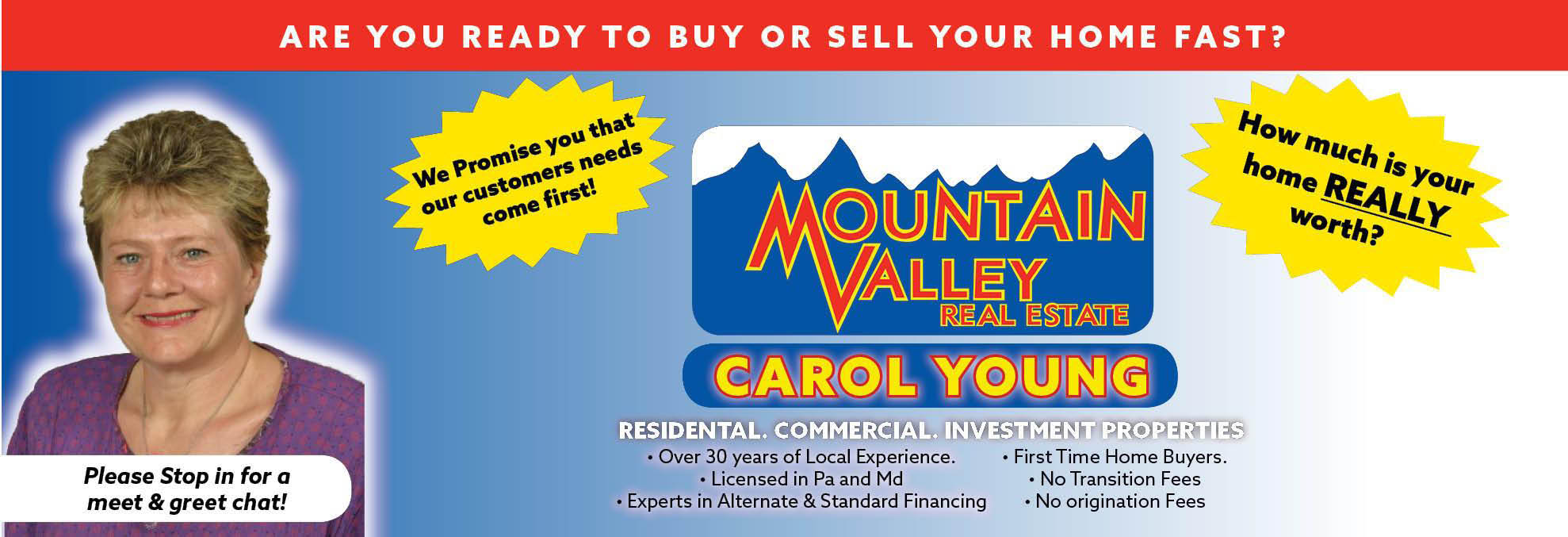 mountain valley real estate logo, buy, sell, house, financing