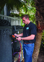 Air conditioning maintenance service check