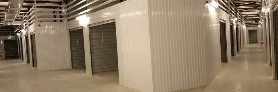 Inside of our climate controlled storage units.