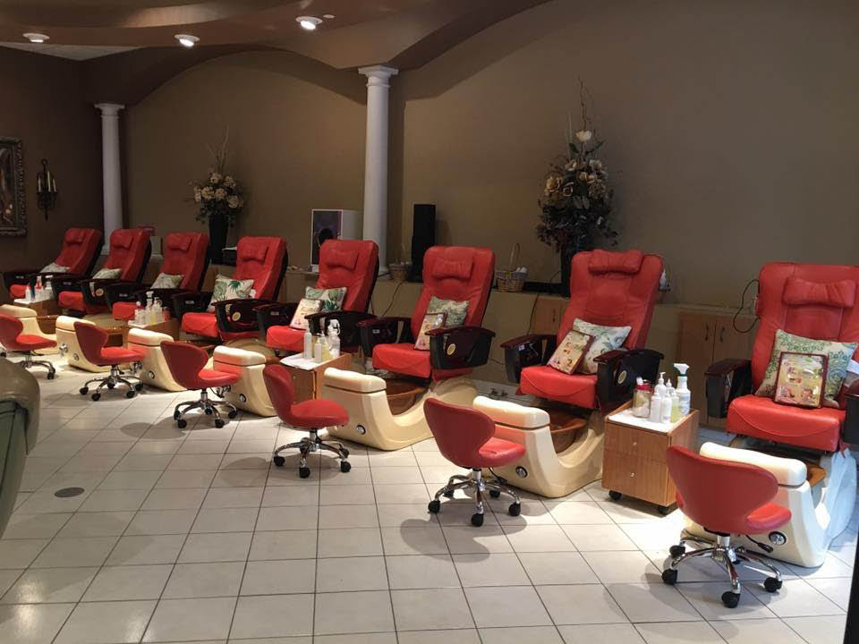 Relax in our comfortable manicure pedicure chairs
