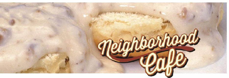 Neighborhood cafe banner