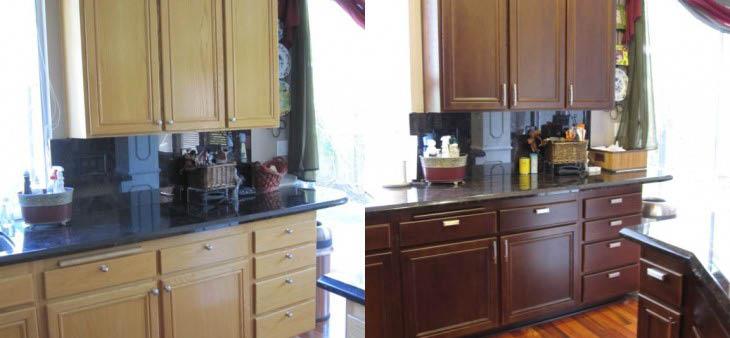 Let us color shift your kitchen cabinets.