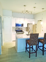 The complete Color Change on cabinets involves a much more dramatic effect than the other cabinet services