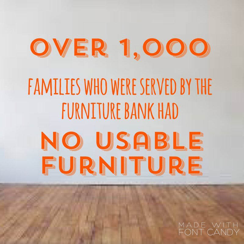 Over 1,000 families who were served by NW Furniture Bank in Tacoma, WA had no usable furniture