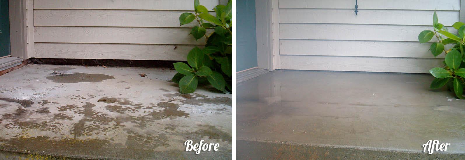 sunken garage floor, uneven sidewalk, driveway
