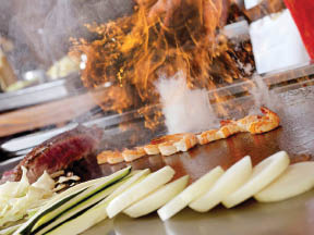 Nagoya Flame Hibachi prepared foods by your chef