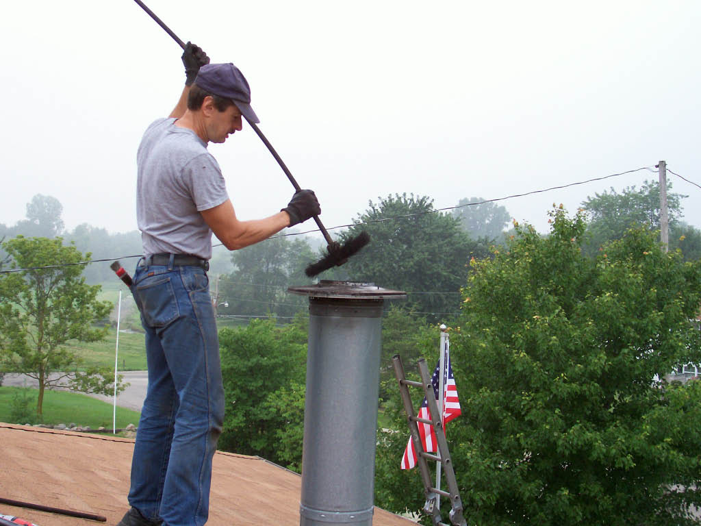 Chimney sweep by National Chimney Cleaners and Repair, Inc serving Northern NJ
