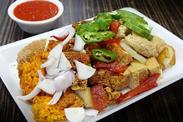 Freshly prepared Indian cuisine