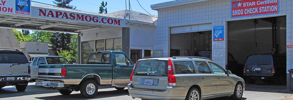 Napa Smog Test Only in Napa, California banner