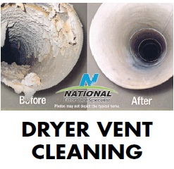 before & after dryer vent cleaning National Carpet Cleaning tampa bay florida