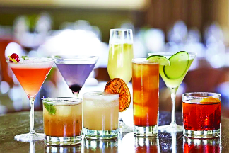Delicious refreshing cocktails