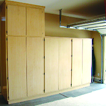 Tall cabinet storage