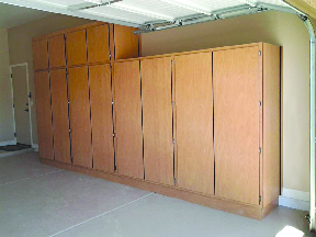 High and wide custom garage cabinets