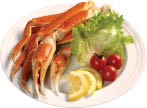 crab legs salad and fruit available at new china buffet