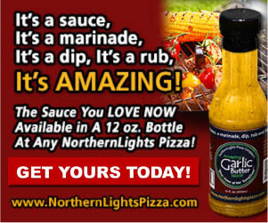 Northern Lights garlic butter, marinade, rub, sauce, dip