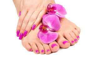 Foot massage and scrub with cleansing
