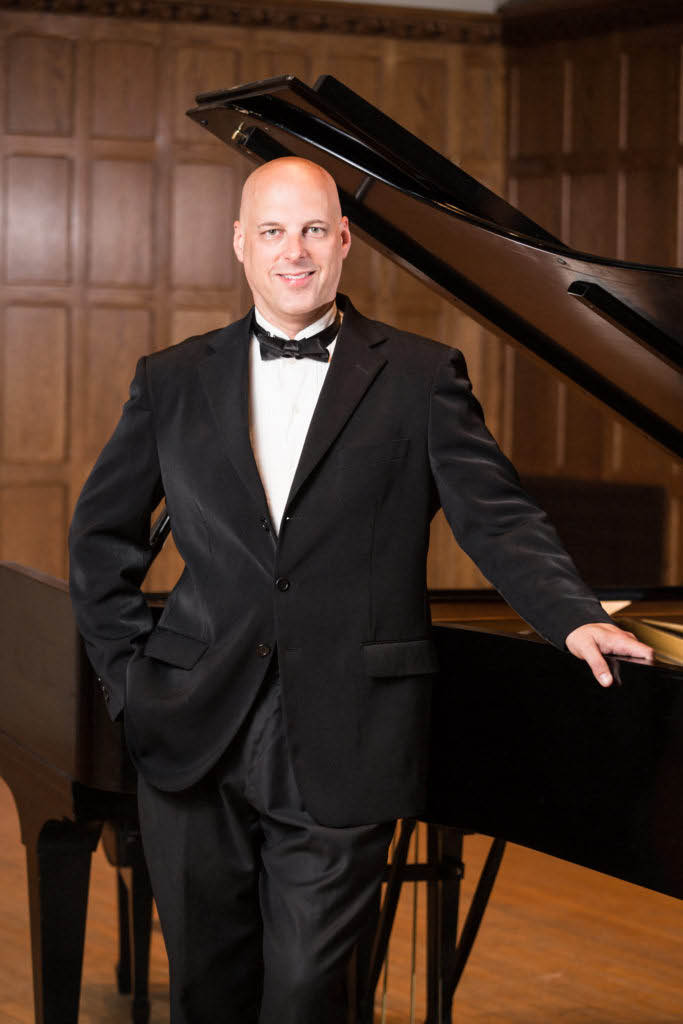 Gregg Michalak, pianist with The New Sussex Symphony in Newton NJ