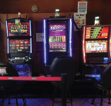 Video poker games at Nick's Barbecue in Tinley Park, Il.