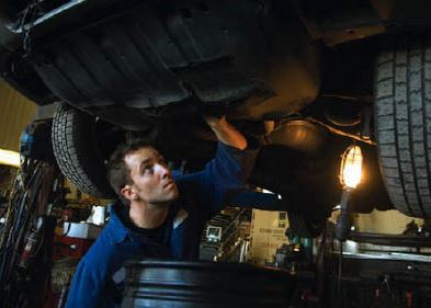 photo of service inspection at Nick's Auto & Tire in Plymouth, MI