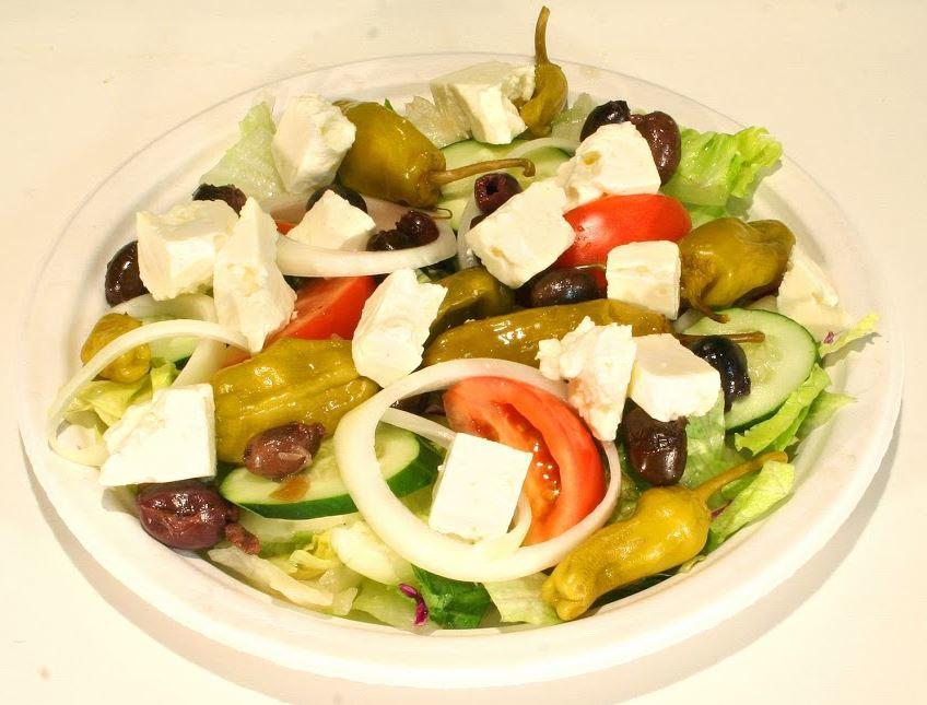 Greek salad at Nick's BBQ.