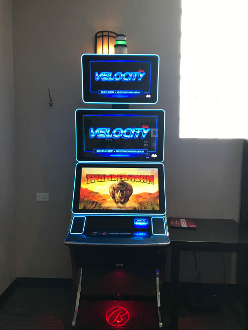 Velocity video gaming machine at Nikki's Off Broadway.