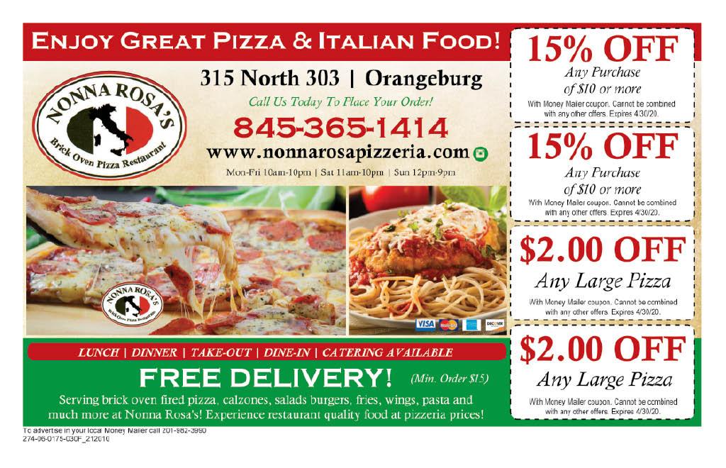 Nonna Rosa's in Orangeburg, NY ad