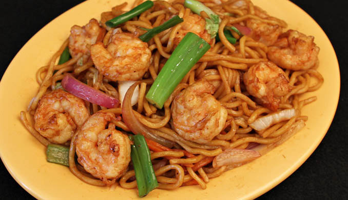 Wongs Fridley, MN Shrimp and Noodles
