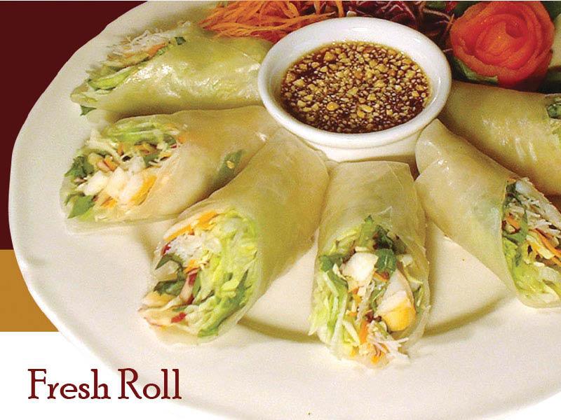 Fresh Spring Rolls served at Noppakao Thai restaurant in Everett, WA - Thai food in Everett - Thai restaurants in Everett - Thai food coupons near me