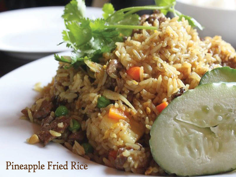Delicious Pineapple Fried Rice from Noppakao Thai in Everett, Washington - Thai food near me - Everett Thai food coupons
