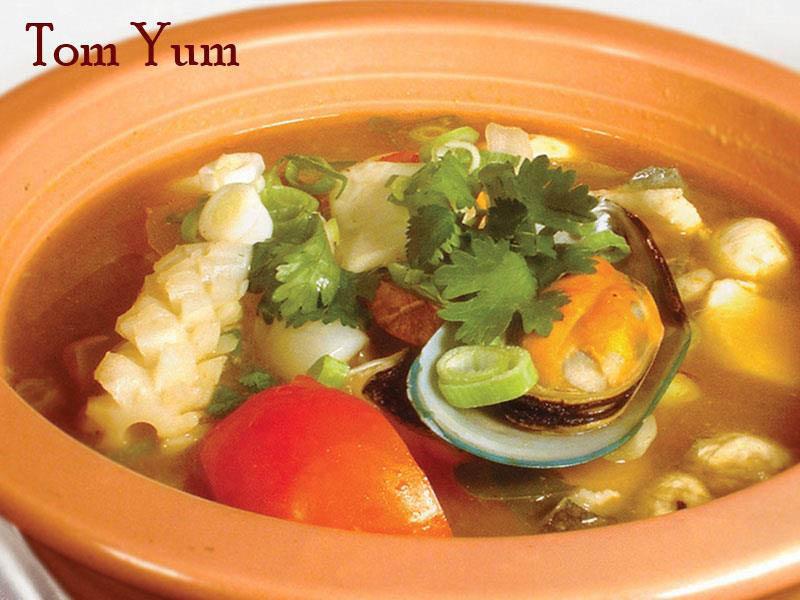 Tom Yum served at Noppakao Thai restaurant in Kirkland, WA - Kirkland Thai food near me - Thai food coupons near me